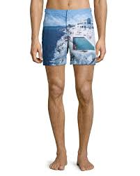Mens Designer Swim Trunks 2017 Orlebar Brown Bulldog Eden Roc Pool Print Swim Trunks Multi