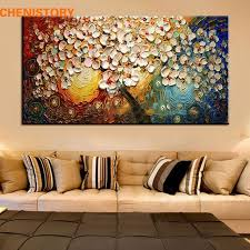unframed handpainted canvas wall art abstract painting modern acrylic flowers palette knife oil painting for home on modern canvas wall art abstract with unframed handpainted canvas wall art abstract painting modern