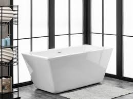 finesse fbt ravenna 6524 ch ravenna 65 inch x 30 inch freestanding acrylic soaking bathtub in white