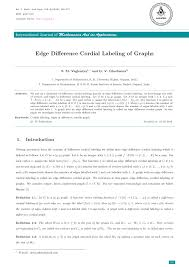 pdf edge difference cordial labeling of graphs
