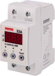 Реле контроля напряжения однофазное А c индикацией e control v  Реле контроля напряжения однофазное 32А c индикацией e control v08