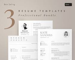 Resume Template Cv Template Instant Download Professional Resume Bundle Creative Resume Templates Word Clean And Simple Resume For Word