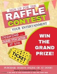 raffle sign customizable design templates for raffle postermywall