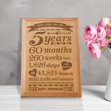 5 year anniversary gift ideas for her uk 5 year anniversary gift for her wood 5