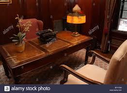 vintage office desks. stock photo retro vintage office desk chair typewriter lamp desks f