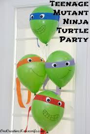 Ninja Turtle Bedroom Decor One Creative Housewife Teenage Mutant Ninja Turtle Party Part 1