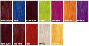 Orange Hair Colour Chart Hair Color Chart