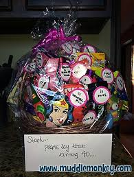 40 gifts for 40th birthday basket 40th birthday party ideas birthday birthday gift baskets and 40th birthday