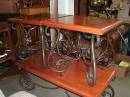 wrought iron and wood furniture. Decorating: Immaculate Industrial Wrought Iron Coffee Table With Decorating And Wood Furniture R