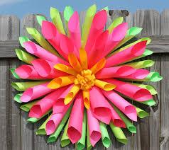 Dahlia Flower Making With Paper Dahlia Paper Flower Wreath Allfreepapercrafts Com