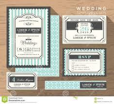 Wedding Invitation Set Templates Wedding Invitation Set Design Template Stock Image Image Of Invite