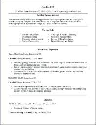 Certified Nursing Assistant Resume Examples Certified Nursing