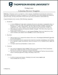 Literature Review Example Apa Beautiful Research Literature Review Template For Free