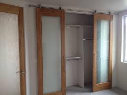 barn style with glass door closet