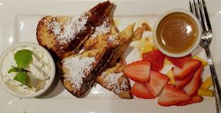 The Brioge French Toast With Get This Passion Fruit Syrup Yelp