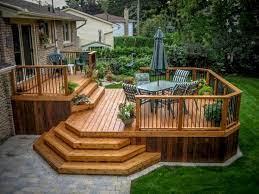 comfy backyard patio deck designs ideas