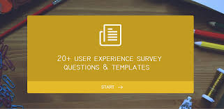 Survey Test Book Answers 20 User Experience Survey Questions And Templates For Inspiration