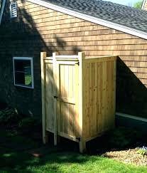 diy outdoor shower enclosure simple outdoor shower enclosure plans