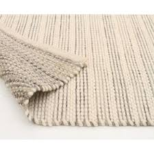 chunky hand braided silver felted wool floor area rug back image