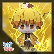 Mô hình giấy Anime Chibi Zenitsu Agatsuma ver 4 – Demon Slayer (Kimetsu No  Yaiba)