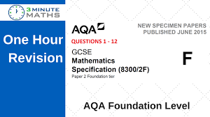 How To Revise A Paper Aqa Maths Past Paper Foundation 2 With Video Solutions