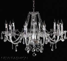 home design chrome crystal chandelier genuine k9 glass pendant light 6 8 10 arms clear candle