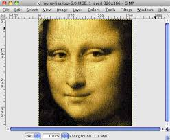 Once the image file is opened, you should be presented with a new Gimp window displaying your image,. step03.png. 2. Convert your image to grayscale - step03