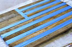 diy tutorial antiquing wood. Masking With Tape Reclaimed Wood Pallet Via Liblueboo.com Diy Tutorial Antiquing F