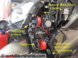 dual horn relay wiring harness webbikeworld dual horn relay wiring
