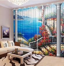 Benutzerdefinierte 3d Fenster Vorhänge Für Wohnzimmer Im
