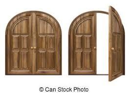 open double doors clipart. Exellent Doors Door  Open And Closed Wooden Doors Isolated On White Inside Open Double Doors Clipart R