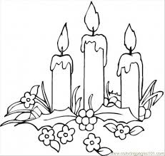 Small Picture Candles And Flowers Coloring Page Free Decorations Coloring