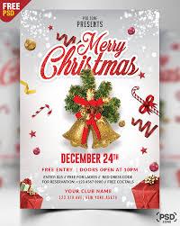 Christmas Card Templates Psd With Merry Flyer Free Psd Zone Seimado