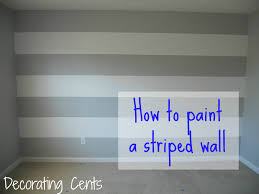 Striped Bedroom Paint Decorating Cents Painting A Striped Wall For The Home