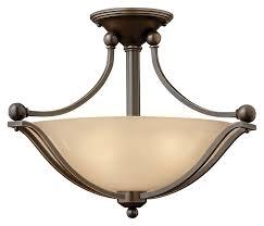 hinkley 4651ob led bolla olde bronze 19 inch diameter semi flush ceiling lighting loading zoom