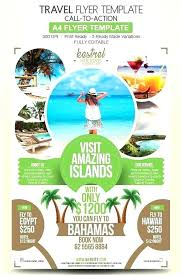 Travel Flyer Template Free Good Agency Design Advertise Your