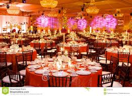 Table Setting At A Luxury Wedding Reception Stock Photo Image