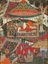 mughal painting under akbar the melbourne hamza nama and akbar fig 1 hamza disarming a byzantine princess