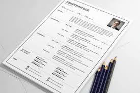 Simple Clean Resume Template Psd Download Psd