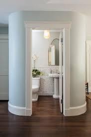 bathroom chair rail tile. powder room ideas with pedestal sink traditional tile chair rail wainscoting small bathroom