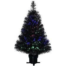 Holiday Time PreLit 32Black Fiber Optic Christmas Tree
