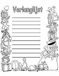 Kleurennu Sinterklaas Verlanglijstje Kleurplaten