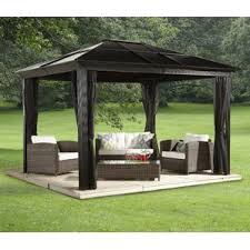 grand resort aspen patio furniture. sedona aluminum permanent gazebo grand resort aspen patio furniture