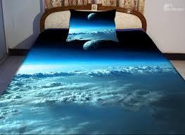 blue sky and star print piece duvet cover sets  beddinginncom