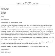 How To Write A Nursing Cover Letters General Nurse Cover Letter Example Icover Org Uk
