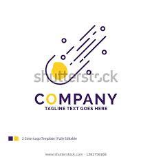Company Name Logo Design Asteroid Astronomy Stock Vector