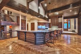 contemporary kitchen with exposed beam hardwood floors in park within bellawood flooring idea 19