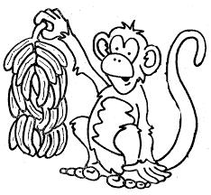 banana clipart black and white. banana with monkey clipart black and white a