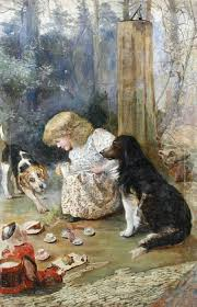 charles burton barber 1845 1894 with dogs