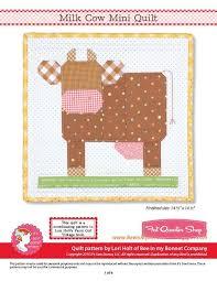 Milk Cow Downloadable PDF Mini Quilt Pattern<BR>Bee in my Bonnet ... & Milk Cow Downloadable PDF Mini Quilt Pattern<BR>Bee in my Bonnet https: Adamdwight.com